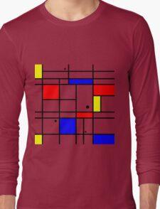 Mondrian style art Long Sleeve T-Shirt