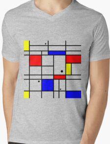 Mondrian style art Mens V-Neck T-Shirt