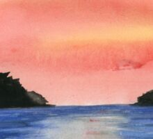 Sunset - Watercolor Painting Sticker