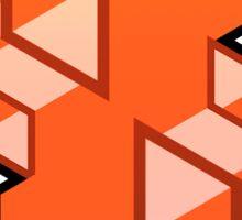 Modern Escher Boxes Sticker