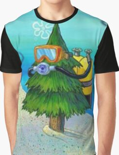 Spongebob Diving Tree Graphic T-Shirt