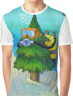 Spongebob Diving Tree Graphic T-Shirt