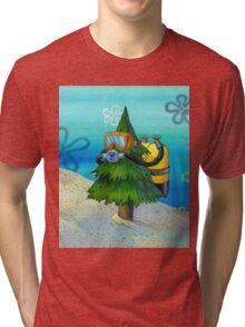 Spongebob Diving Tree Tri-blend T-Shirt