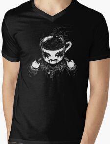 Black Metal Coffee Mens V-Neck T-Shirt