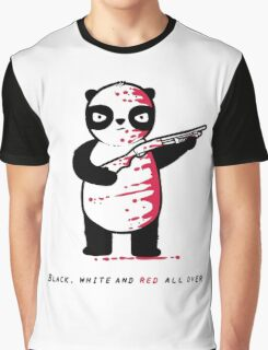 Black Red and White Graphic T-Shirt