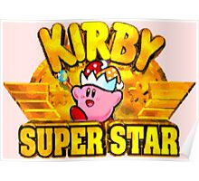 Kirby Super Star (SNES Title Screen) Poster