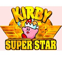 Kirby Super Star (SNES Title Screen) Photographic Print