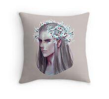 Thranduil Winter Crown Throw Pillow