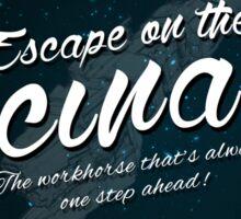 The Expanse - Rocinante - Teal Clean Sticker