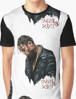 Travis Scott la Flame Graphic T-Shirt