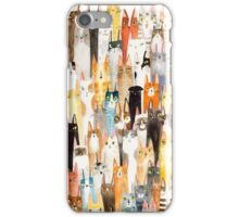 Cat Lineup iPhone Case/Skin