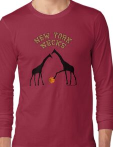 New York Necks (giraffe pattern for light-colored shirts) Long Sleeve T-Shirt