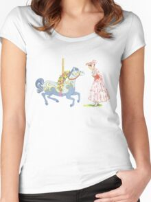 Retro Jolly Holiday Women's Fitted Scoop T-Shirt