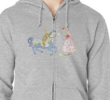 Retro Jolly Holiday Zipped Hoodie