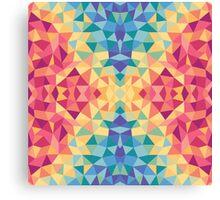 Bright multi-colored geometric design Canvas Print