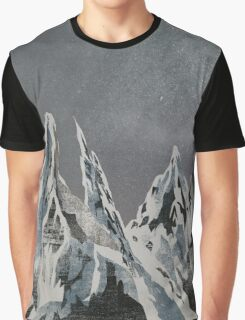 Mountains - Winter Sky Graphic T-Shirt