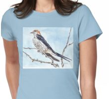 I'll wait for your return... Greater striped swallow Womens Fitted T-Shirt