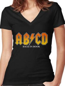 AB/CD : BACK IN BOOK Women's Fitted V-Neck T-Shirt