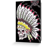 Indian Chief Skull Greeting Card