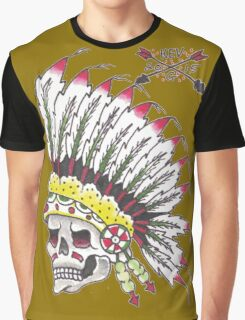 Indian Chief Skull Graphic T-Shirt