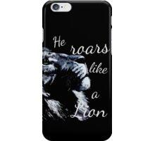 He roars like a Lion iPhone Case/Skin