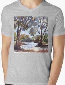 Blue gums. The first light of day Mens V-Neck T-Shirt