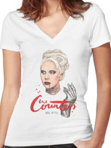 The Countess Ams Motel Women's Fitted V-Neck T-Shirt