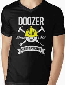 Doozer Construction Co Mens V-Neck T-Shirt