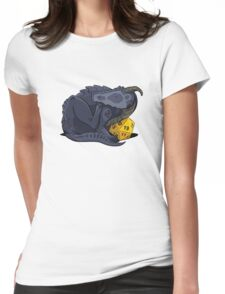 D20 Black Dragon Womens Fitted T-Shirt