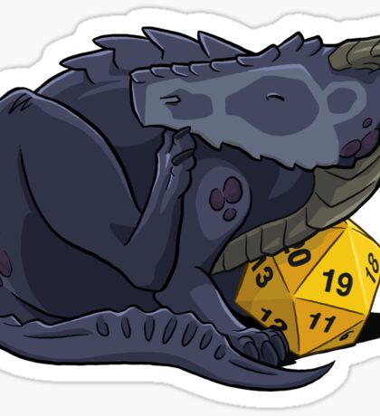 D20 Black Dragon Sticker