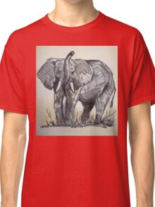 African Elephant sketch Classic T-Shirt