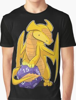 D20 Gold Dragon Graphic T-Shirt