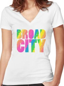 BROADCITY Women's Fitted V-Neck T-Shirt