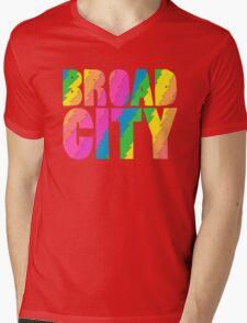 BROADCITY Mens V-Neck T-Shirt