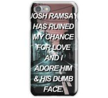 Josh Ramsay aesthetic iPhone Case/Skin