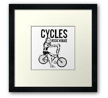 CYCLES ROCK N' BIKE Framed Print
