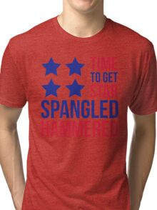 Star Spangled Hammered Funny Quote Tri-blend T-Shirt