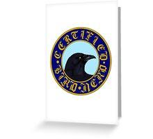 Certified Bird Nerd (Crow) Greeting Card