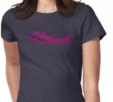 Retro-1970s Buick Skyhawk Paint Splatter Logo Womens Fitted T-Shirt