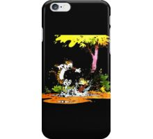 Calvin and Hobbs Playing Water iPhone Case/Skin