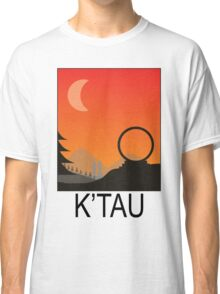 Stargate SG1 - Retro Travel Poster (Atlantis) Classic T-Shirt