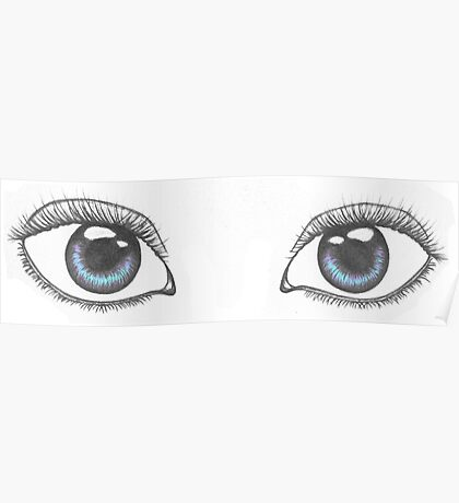 Realistic Eye Drawing Poster