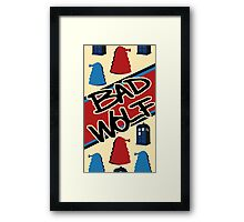 Bad Wolf Pattern Framed Print