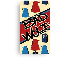 Bad Wolf Pattern Canvas Print