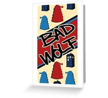 Bad Wolf Pattern Greeting Card