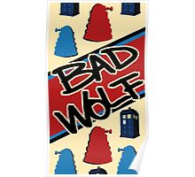 Bad Wolf Pattern Poster