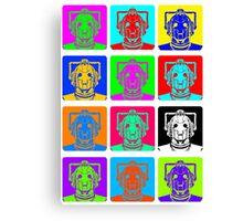 Doctor Who - Andy Warhol (Cybermen) Canvas Print