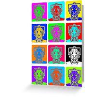 Doctor Who - Andy Warhol (Cybermen) Greeting Card