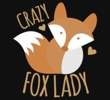 Crazy Fox lady Kids Tee