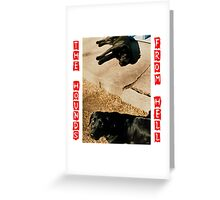 Hounds  From Hell, Ethel & Otis Greeting Card